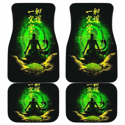 Zoro One Piece Car Floor Mats Universal Fit - CarInspirations