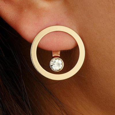 1 Pair High Quality Fashion Earrings Simple Circle - Vanessa Stylez Boutique