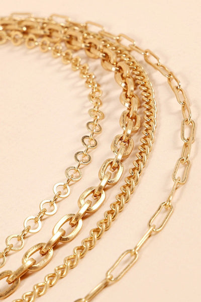 Chain Linked Multi Layered Necklace - Vanessa Stylez Boutique