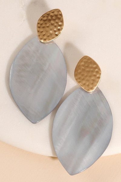 Genuine Shell Water Drop Post Earrings - Vanessa Stylez Boutique