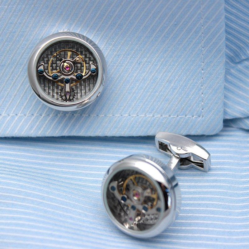 Automatic Watch Engine Cufflinks - Vanessa Stylez Boutique