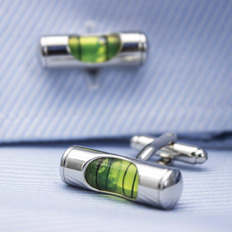 Bubble Level Cufflinks - Vanessa Stylez Boutique