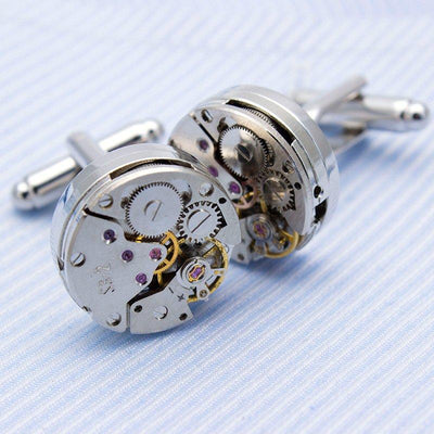 Steampunk Watch Cufflinks - Vanessa Stylez Boutique