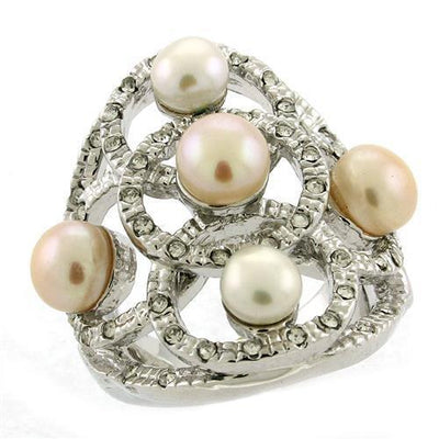 Rhodium Brass Ring with Semi-Precious - Vanessa Stylez Boutique