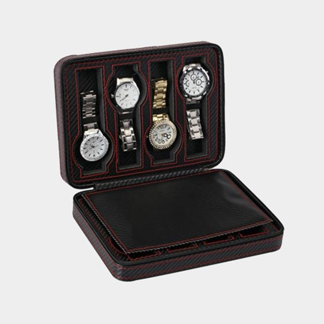 8 Grids PU Leather Watch Box Storage Watches - Vanessa Stylez Boutique