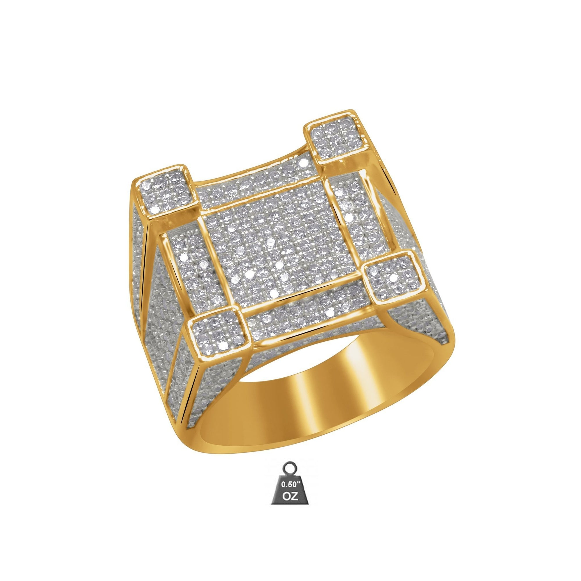 Men gold Ring - Vanessa Stylez Boutique