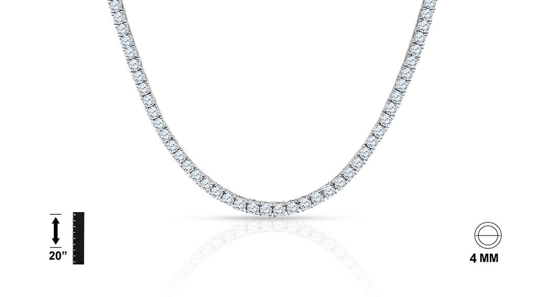 Sterling Silver Chain with CZ - Vanessa Stylez Boutique