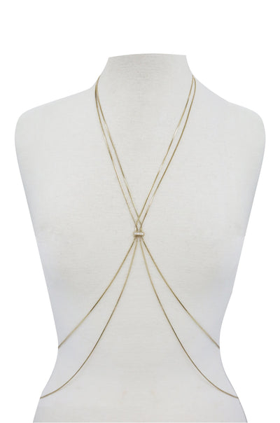 Cross My Heart Body Chain - Vanessa Stylez Boutique