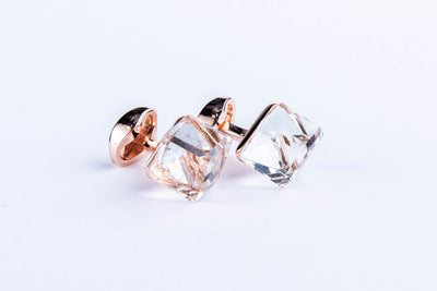 Crystal Geometry Cufflink - Vanessa Stylez Boutique
