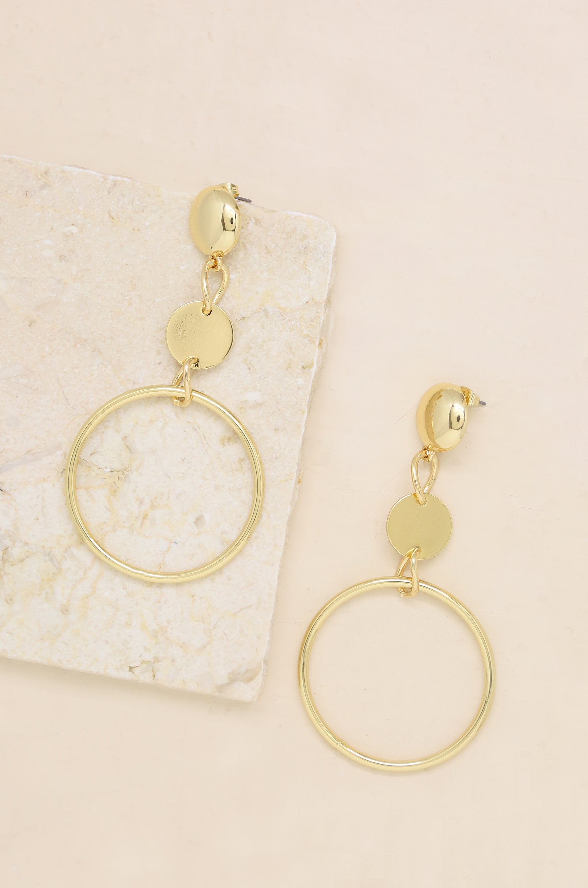 Gold Plated Dangle Earrings - Vanessa Stylez Boutique