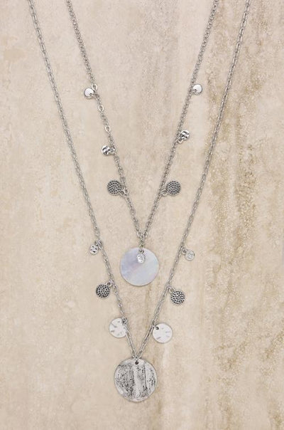 Layered Shell Disc Necklace Set - Vanessa Stylez Boutique