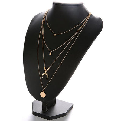 Women Fashion Moon CrossPendant - Vanessa Stylez Boutique