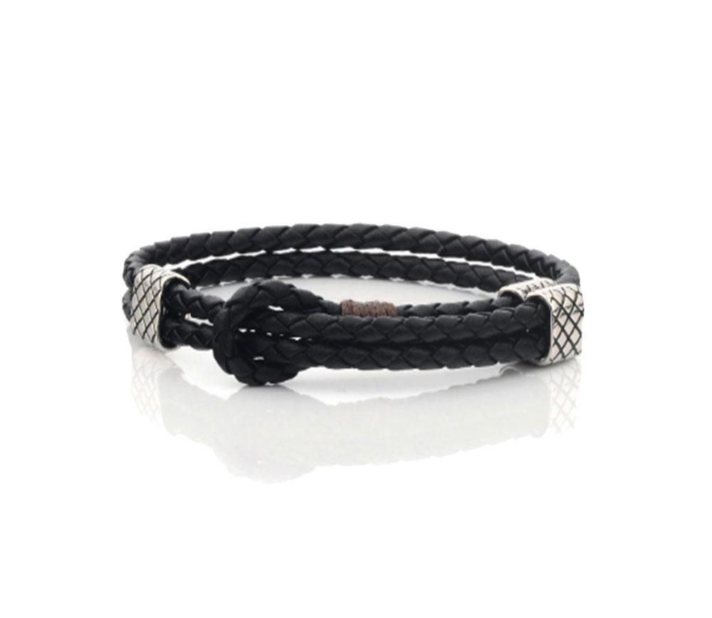 Men Woven Adjustable Leather Bracelet - Vanessa Stylez Boutique
