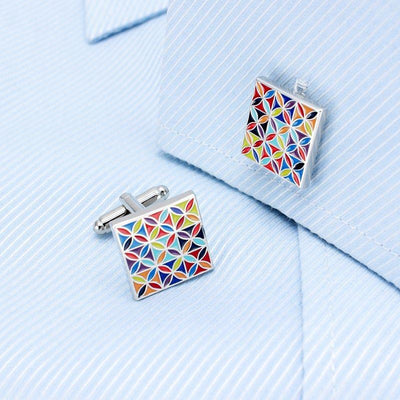 Enamel Art Cufflinks - Vanessa Stylez Boutique