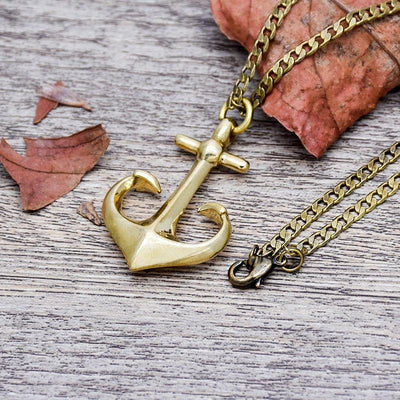 Brass Anchor Necklace - Vanessa Stylez Boutique