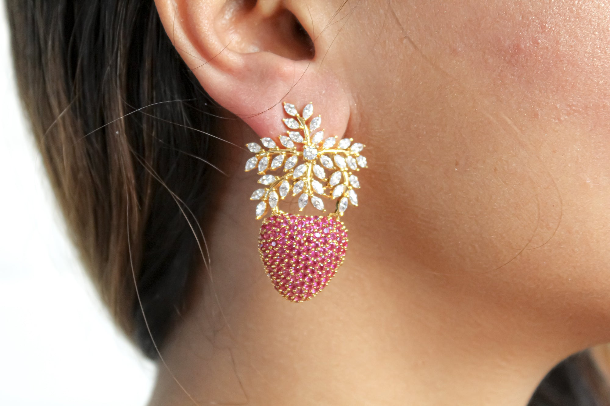 Himalayan Strawberry Earrings - Vanessa Stylez Boutique