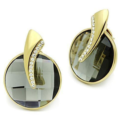 GL343 IP Gold(Ion Plating) Brass Earrings with - Vanessa Stylez Boutique