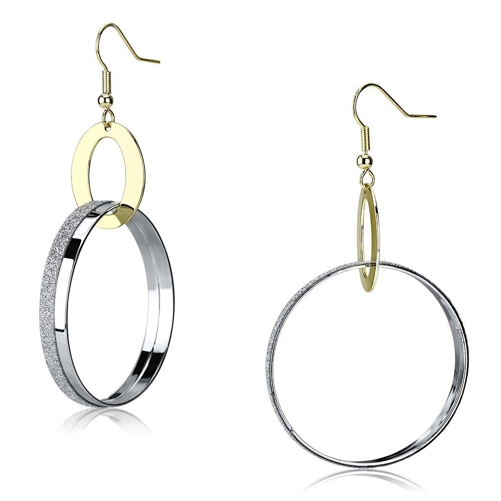 LO2706 Reverse Two-Tone Iron Earrings with No - Vanessa Stylez Boutique