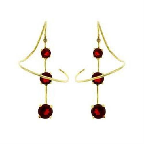 LOAS798 Gold 925 Sterling Silver Earrings with AAA - Vanessa Stylez Boutique