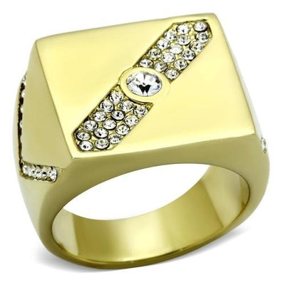Gold(Ion Plating) Stainless Steel Ring - Vanessa Stylez Boutique