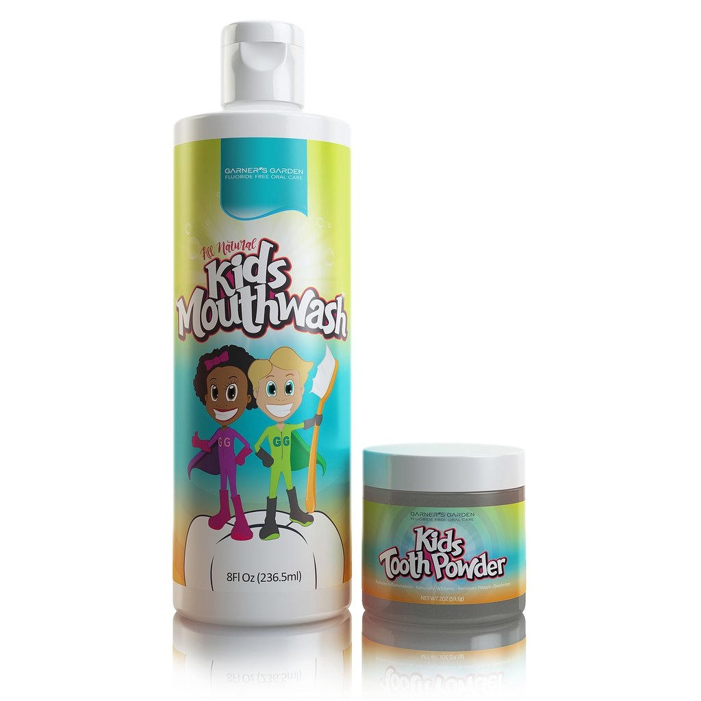 Garners Garden Kid's Mouthwash and Tooth Powder Package