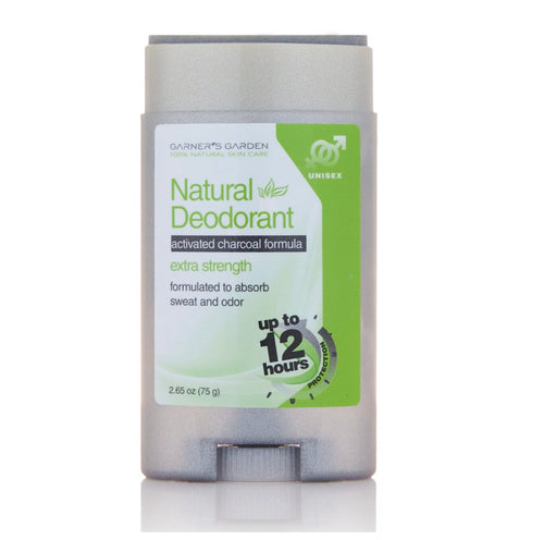Activated Charcoal Natural Deodorant - Extra Strength