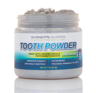 Garners Garden Tooth Powder + Organic Neem and Peppermint 2 oz