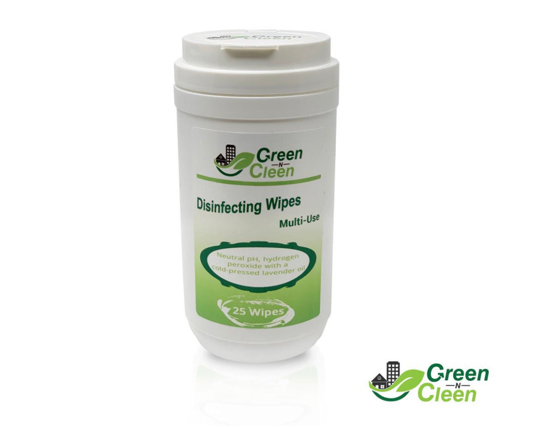 Green-N-Cleen Disinfecting Wipes - Lavender