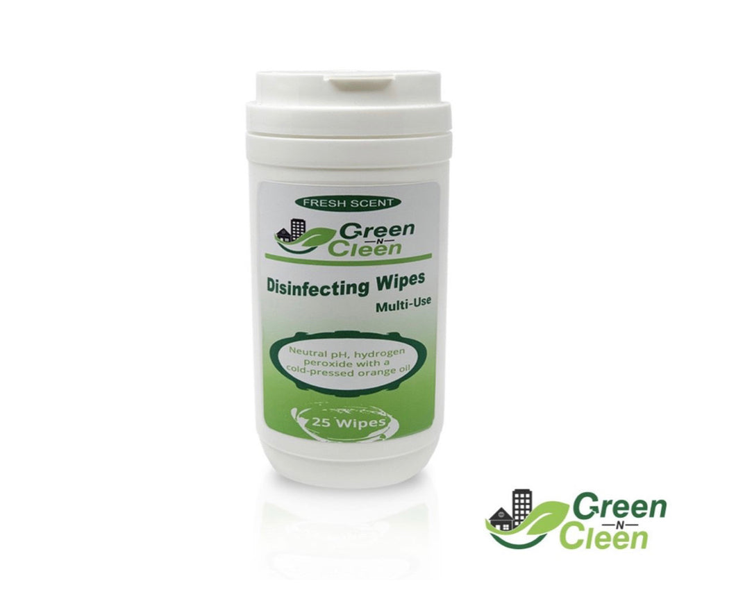 Green-N-Cleen Disinfecting Wipes - Citrus