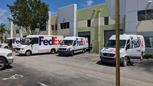Fedex at the Lean Factor headquarters