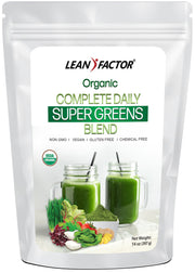 Complete Daily Super Greens Blend - Organic Weight Loss Lean Factor 1 lb