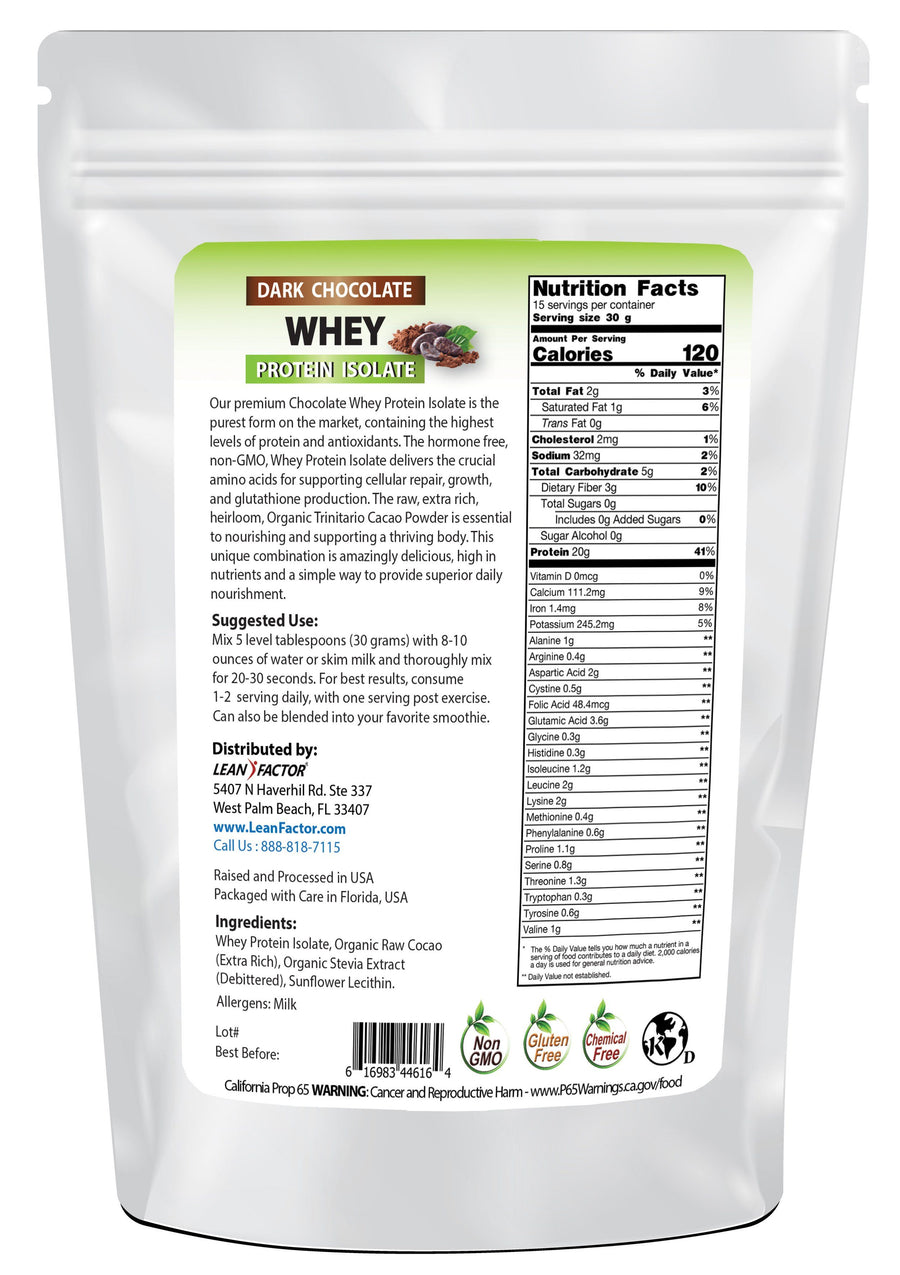 Dark Chocolate Whey Protein Isolate Protein Powders Lean Factor