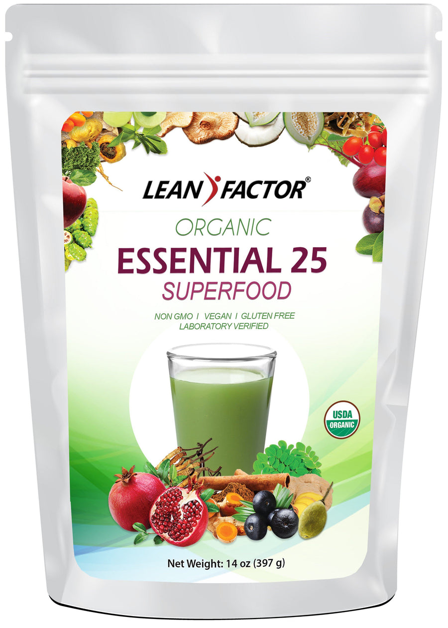 Essential 25 Superfoods - Organic General Health Lean Factor 14 oz