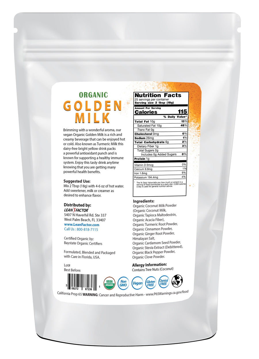 Golden Milk - Organic General Health Lean Factor