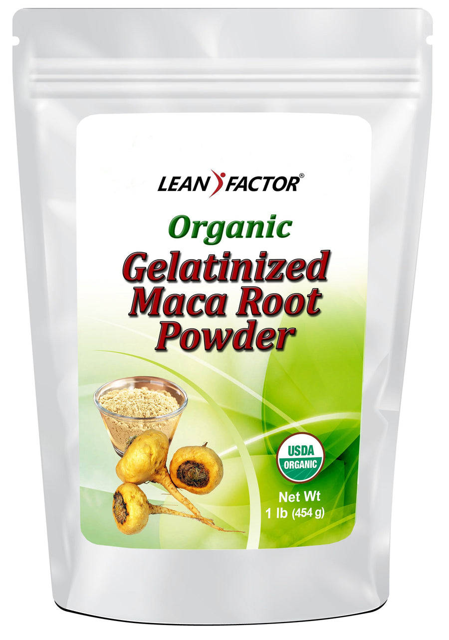 Maca Root Gelatinized Powder - Organic Weight Loss Lean Factor 1 lb