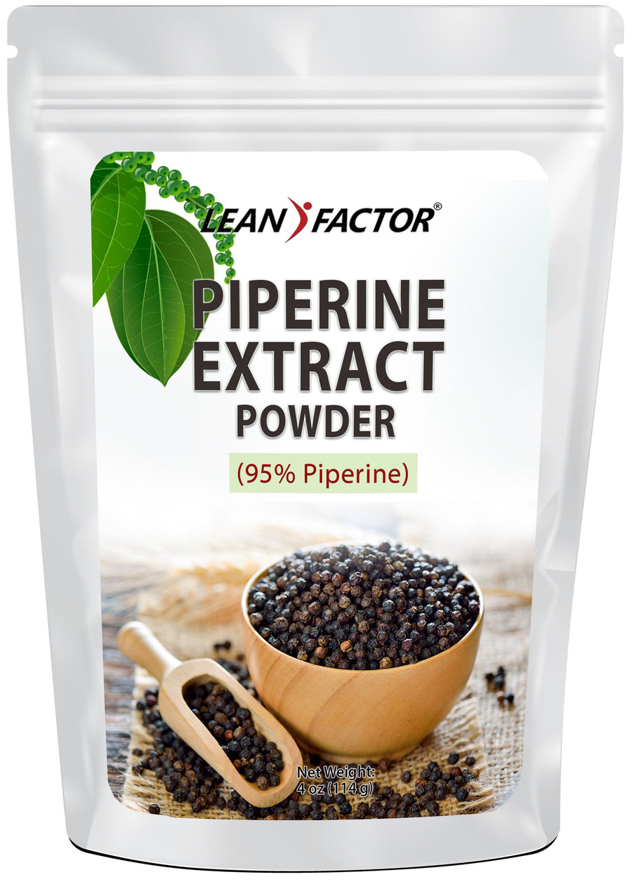 Piperine Powder (Black Pepper Extract) General Health Lean Factor 4 oz