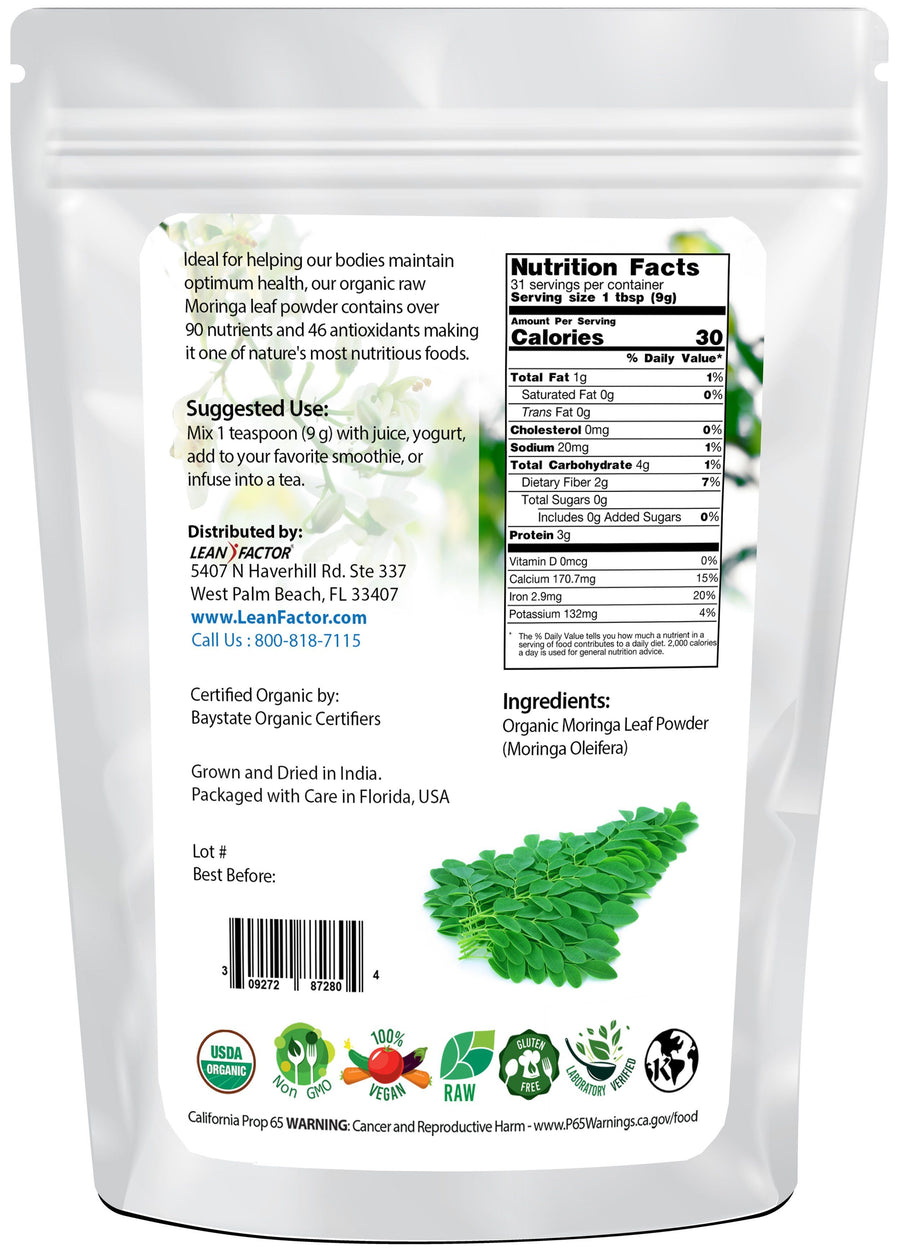 Pure Premium Moringa Powder - Organic General Health Lean Factor