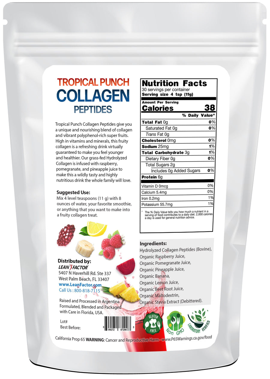 Tropical Punch Collagen Peptides Lean Factor