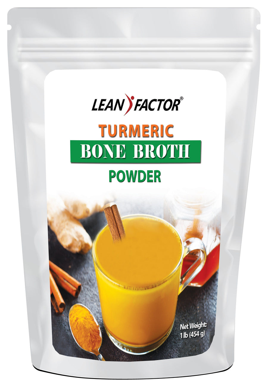 Turmeric Bone Broth Protein Powders Lean Factor 1 lb
