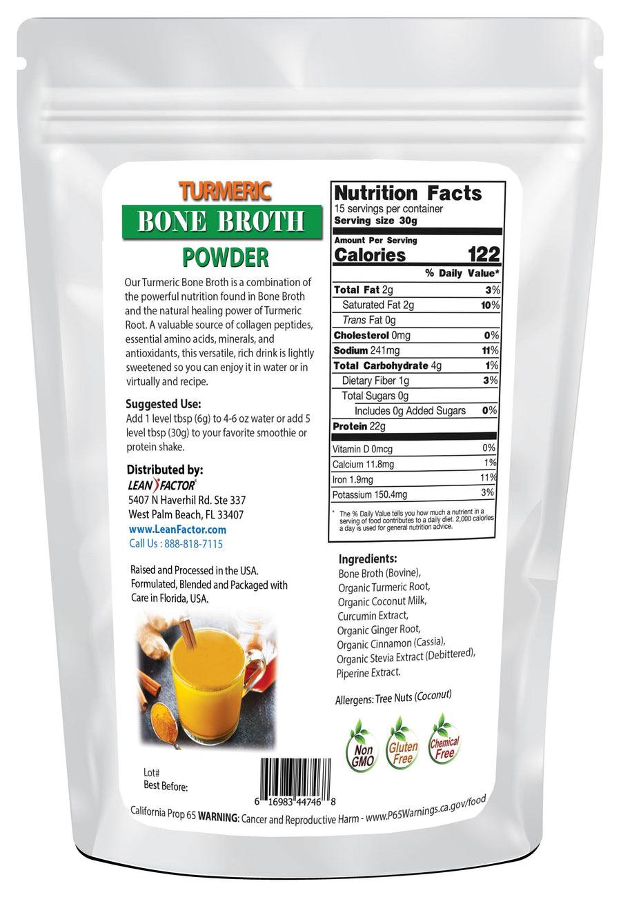 Turmeric Bone Broth Protein Powders Lean Factor