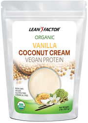 Vanilla Coconut Cream Vegan Protein Protein Powders Lean Factor 1 lb
