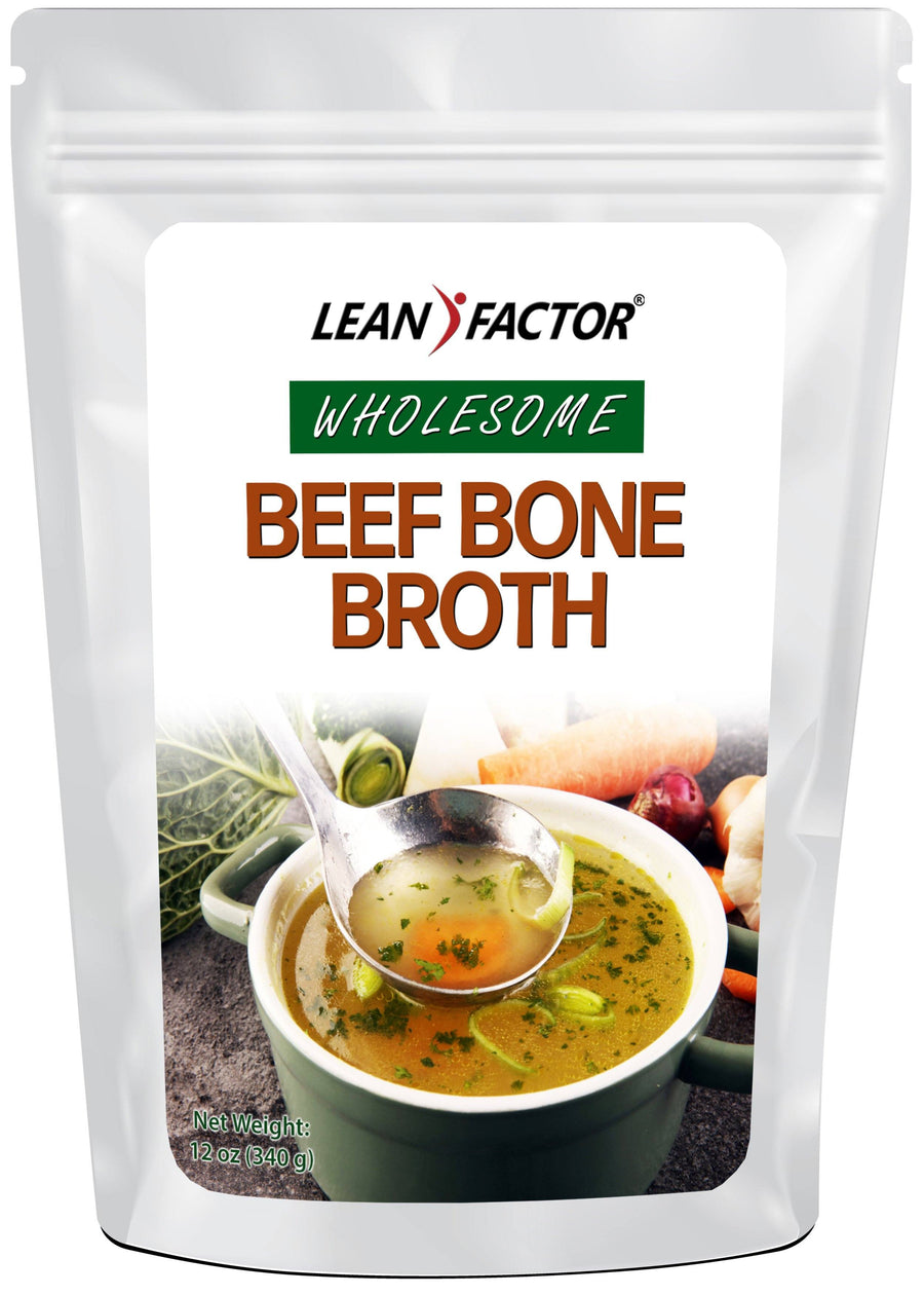 Wholesome Beef Bone Broth Protein Powders Lean Factor 12 oz