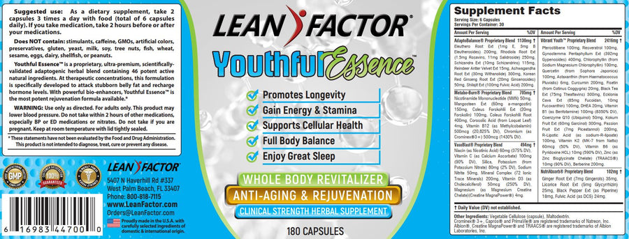 Youthful Essence General Health Lean Factor