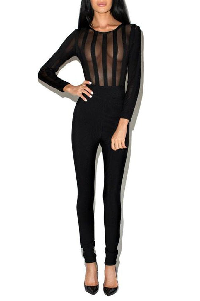 The Molly Bandage Jumpsuit-Black