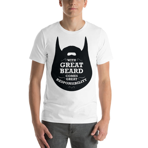 With Great Beard Premium T-Shirt Up to 4X