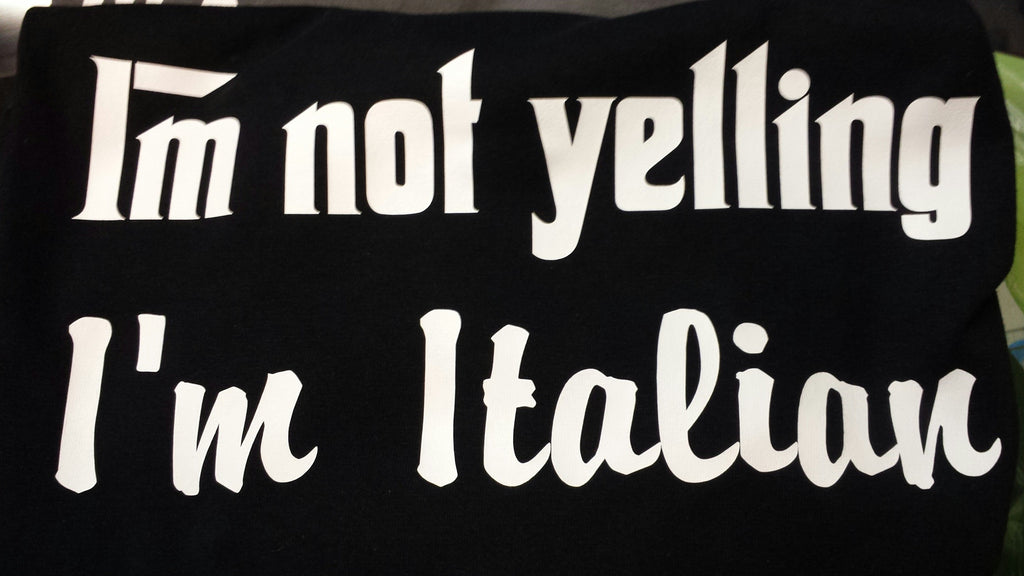 Hoodie Hooded sweatshirt I'm not yelling, I'm Italian