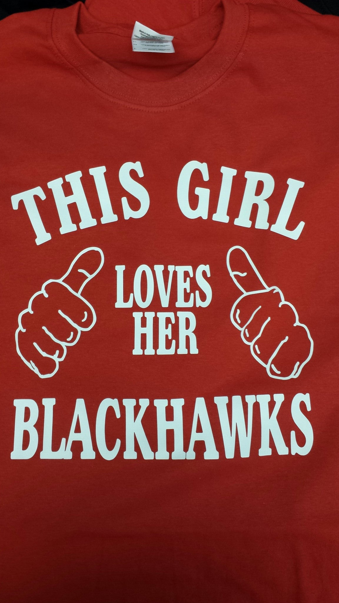 This Girl Loves Her Blackhawks t-shirt Chicago Sports