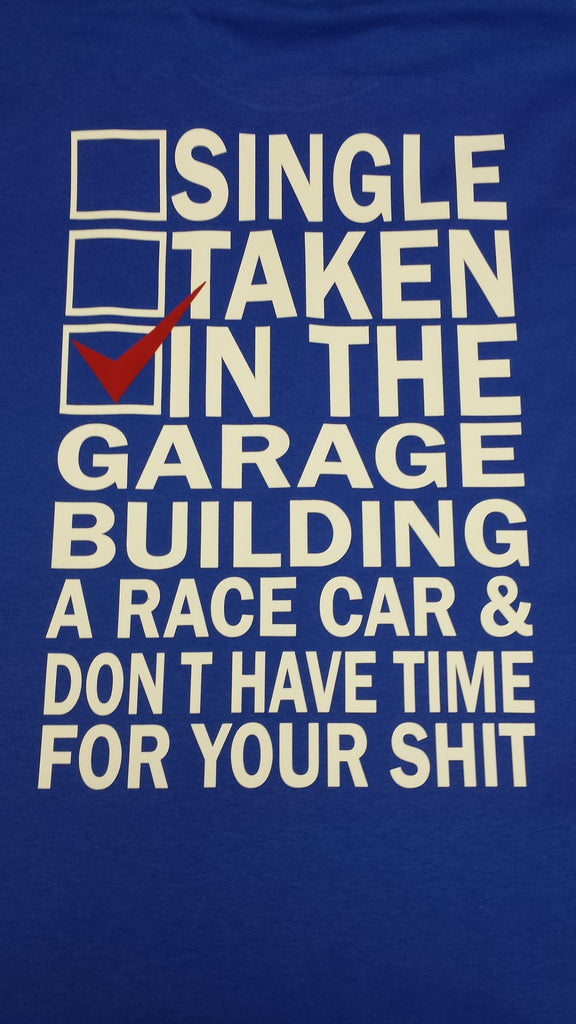 Garage t-shirt for race cars