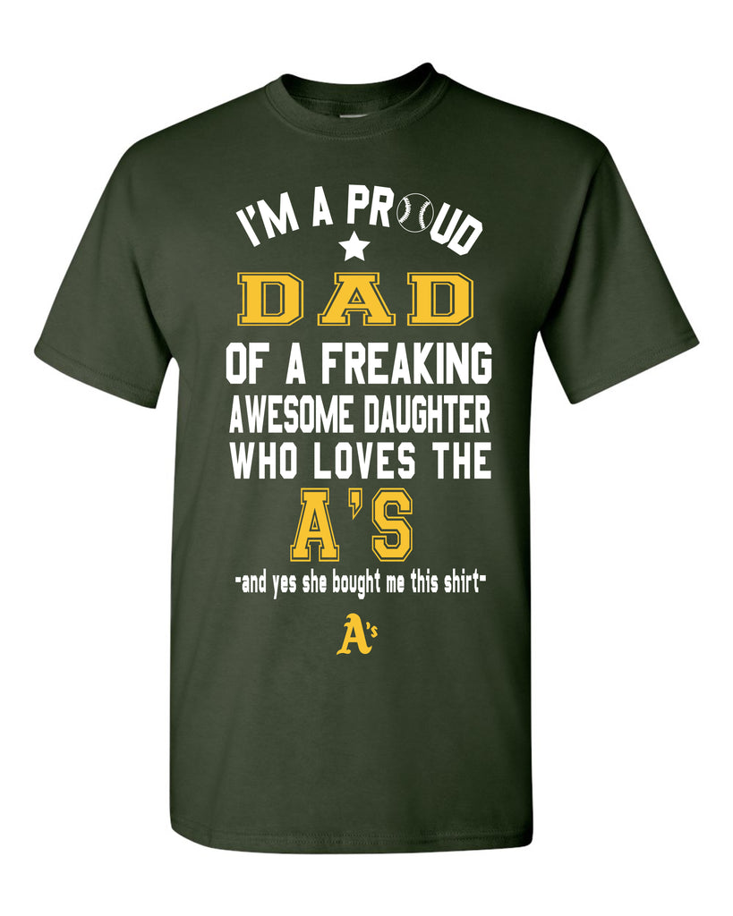 Oakland As Dad Daughter T-Shirt
