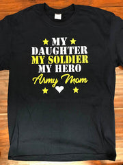 Army Mom of a Daughter Soldier T-Shirt